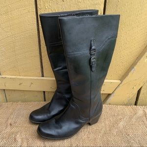 Clarks Ingalls Vicky Wide Calf Leather Boot